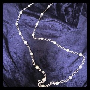 Talbots Pearl and Silver Necklace